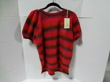 Women's Short Sleeve Crewneck Pullover Sweater Universal Thread Red M