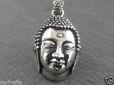 Edelstahl Anhänger Buddha Thai Buddhismus  Amulett Hindu shiva Schmuck Kette