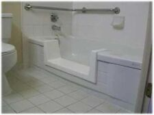 Walk-In Bath To Shower Easy Step Thru Insert DIY Conversion Kit Senior Safety