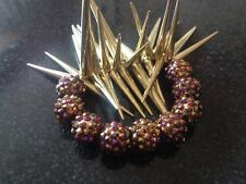 Statement Gold Crystal Ball and Spike Bracelet - Rocks Boutique