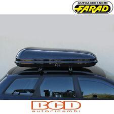 FARAD - BOX BAULE PORTAPACCHI F1 N2 450LT NERO LUCIDO - PORTABAGAGLI AUTO