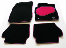 Car Mats for Toyota Previa 8  Seater MPV 00-05 - Pink & Black Trim & Heel Pad