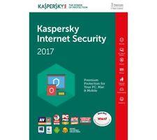 Kaspersky Internet Security 2017 - 3 PC/Geräte - 1 Jahr Update/Vollversion
