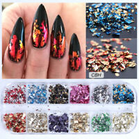 Nail Sequins Aluminum Irregular Flakes Nail Art Decoration Mirror Glitter Foil.