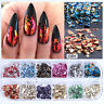 Nail Sequins Aluminum Irregular Flakes Mirror Glitter Foil Nail Art Decor DIY