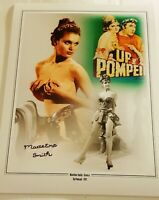 "Madeline Smith UP POMPEII hand signed 16"" x 12"" Montage photo"