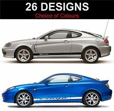 hyundai coupe side stripes decals graphics side stripe  both sides