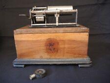 ANCIEN GRAMOPHONE PHONOGRAPHE A ROULEAU