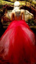 ROZENE Indian Tribal Boho Lehenga Crystal Tulle Bridal Wedding Ballgown Set