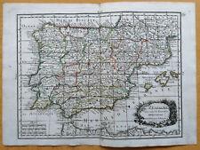 Le Rouge Original Kupferstich Karte Portugal Spanien L´Espagne - 1748
