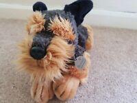 Keel Toys Plush Schnauzer Dog Scamp FREE P&P