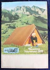André JAMET - Catalogue de Vacances CAMPING 1975 - Illustré
