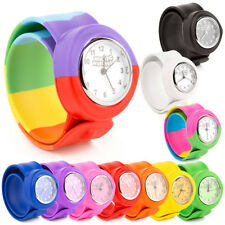428068aeba01 Childrens Unisex Silicone Rubber Slap Wrist Pop Watch Boys Girls Kids Gift