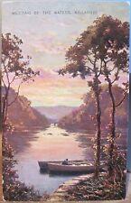 Irish Postcard MEETING OF THE WATERS Lakes Killarney Ireland Valentine Artotype
