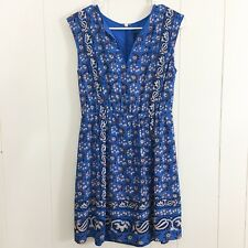 J. Crew Womens Blue Silk Vinatge Scarf Dress Size 2