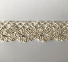 5 Yds Vintage Cotton Crochet Trims Lace Edge Trim Craft Off White Ivory 9v Sew