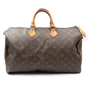 LOUIS VUITTON Speedy 40 Boston Bag Handbag Monogram Brown M41522