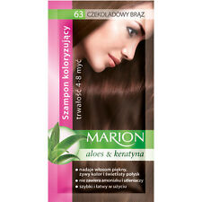 Buy 2 Get 1 MARION Hair Color Shampoo Lasting 4-8 Washes No Ammonia 63. Chocolate Brown
