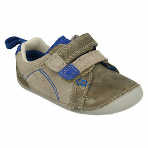 BOYS CLARKS TINY SOFT INFANT HOOK & LOOP TODDLER CASUAL FIRST CRUISER SHOES SIZE