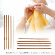 55Pcs Double Pointed Bamboo Knitting Needles Sweater Glove Knit Tools Set W7