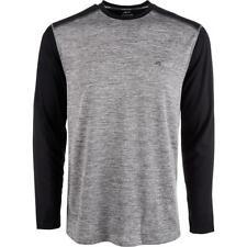 Greg Norman Mens Gray Logo Long Sleeves Crew Pullover Top Shirt S Bhfo 2908