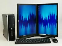 Office Home Dual Monitor PC SET  Intel Quad i5 SSD HDD 8-16 GB RAM Win 10 Pro