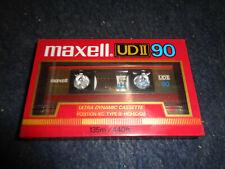 CASSETTA VERGINE MAXELL UD II 90 - MUSICASSETTA AUDIO SIGILLATO SEALED -A3- FL