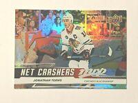 2019-20 UD Upper Deck MVP Net Crashers #NC-10 Jonathan Toews Chicago Hockey Card