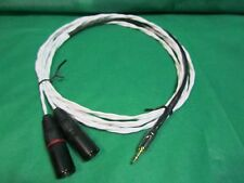 "1 Ft SILVER PLATED 3.55MM 1/8"" to DUAL XLR Male Cable for Iphone Mobile Audio"