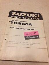 Suzuki Parts list TS250 TS 250 A 250TS catalogue liste pièce détachée par pays