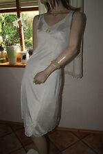 Elegantes glänzendes Nylon Satin Unterkleid Spitzenbesatz Fleur Boddie 40