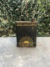 Ancien Bidon Huile Oil Can Ol Dose Latta Olio Huile Tropic