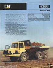 Equipment Brochure - Caterpillar - D300D - Articulated Dump Truck - 1991 (E2400)