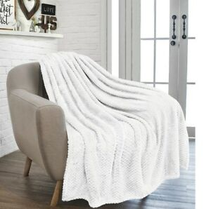 Luxury Waffle Honeycomb Throw Popcorn Blanket Warm Soft Travel Bedspread