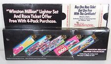 1993 SET OF 5 NASCAR WINSTON RACING CIGARETTE LIGHTERS DAYTONA 500 COCA COLA 600