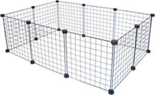 C&C WHITE 3x2 guinea pig cage 10 panels and 20 connectors Correx NOT INCLUDED