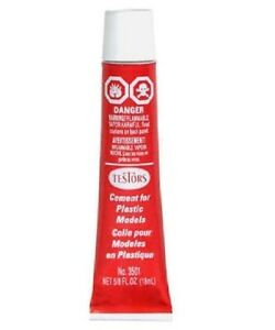 new # 3501 Testors Plastic Model Cement Glue 5/8 oz new free shipping