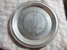Vintage Wilton Armetale RWP Pewter 1776 Liberty Drummer Plate, Columbia PA 11 in