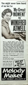 Winifred Atwell My Great Moment by Winifred Atwell Melody Maker Advert 1956