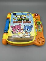 Vtech Touch and Teach Interactive Educational Baby Toddler Word Book Toy EUC