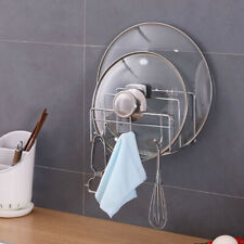 Stainless Steel Durable Pan Pot Rack Cover Lid Rack Stand Spoon Holder Kitchen