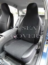 TO FIT A TOYOTA CELICA CAR, SEAT COVERS, EBONY BLACK SUEDE/LEATHERETTE TRIM