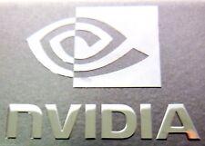 Calcomanía De Plata 1x Nvidia caso Genuino 30 Mm x 23 MM APROX