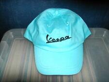 Vespa logo baseball style cap in sky blue black text