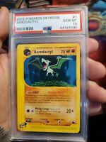 PSA 10 GEM MINT 2003 Skyridge Set Non-Holo Rare Pokemon Card: AERODACTYL 1/144