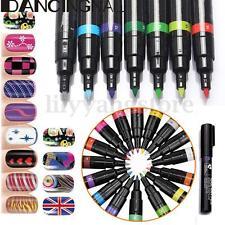 New 24 Pcs Color Nail Art Pen Painting Design Tool Drawing For UV Gel Polish Kit