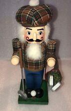 Nutcracker Golf player solid wood 12� Holiday Christmas Display