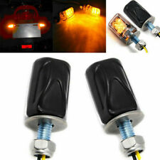 Light Indicator Pair Blinker Dirt Chrome Bike Motorcycle LED Turn Signal Mini