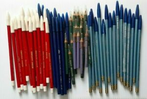 60 Grease Pencils Eyeliner Lipliner Eyebrow Red Blue Green Purple & Silver Blue!