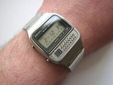NEW RARE Vintage 1979 NOS █ SEIKO C-359 LCD Digital Calculator watch